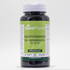 Multivitaminen/mineralen WHOLEFOOD - 30 capsules