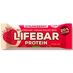 15 x Lifebar strawberry protein - doos